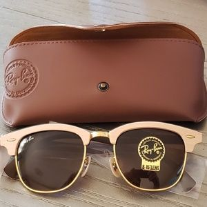 Ray-Ban: 51mm Wood Clubmaster Sunglasses